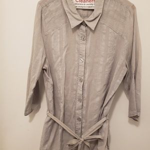 Comfortable light gray shirt for work or for play